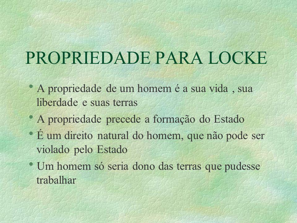 PROPRIEDADE PARA LOCKE