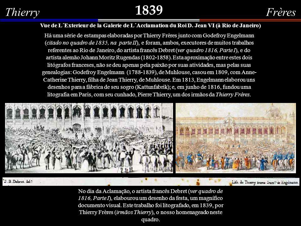 1839 Thierry Frères. Vue de L´Exterieur de la Galerie de L´Acclamation du Roi D. Jean VI (à Rio de Janeiro)
