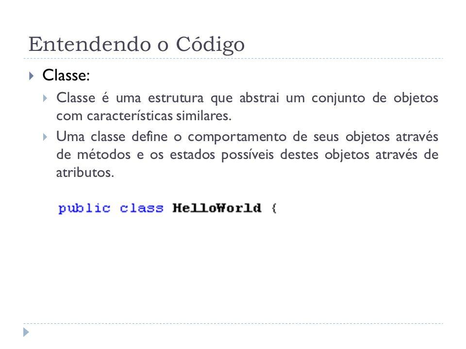 Entendendo o Código Classe: