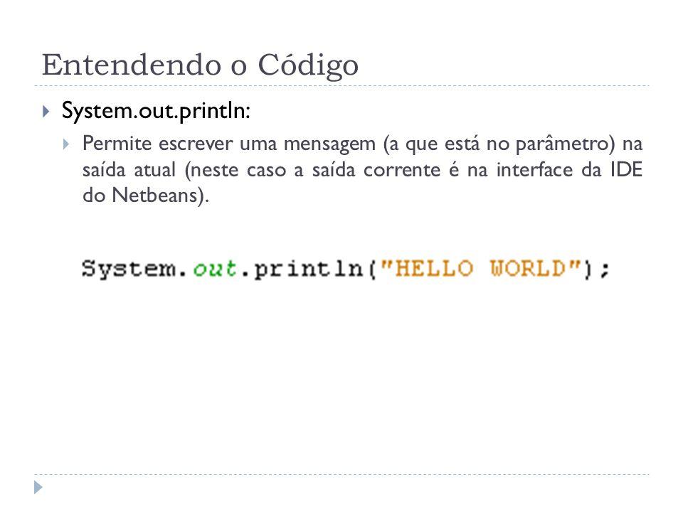 Entendendo o Código System.out.println: