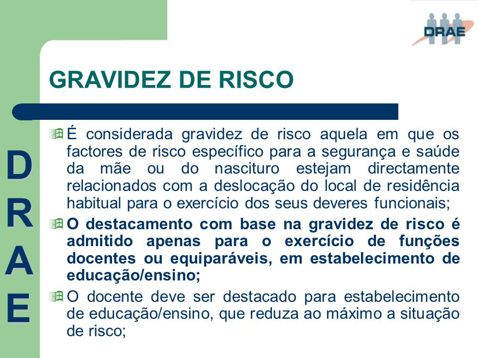GRAVIDEZ DE RISCO