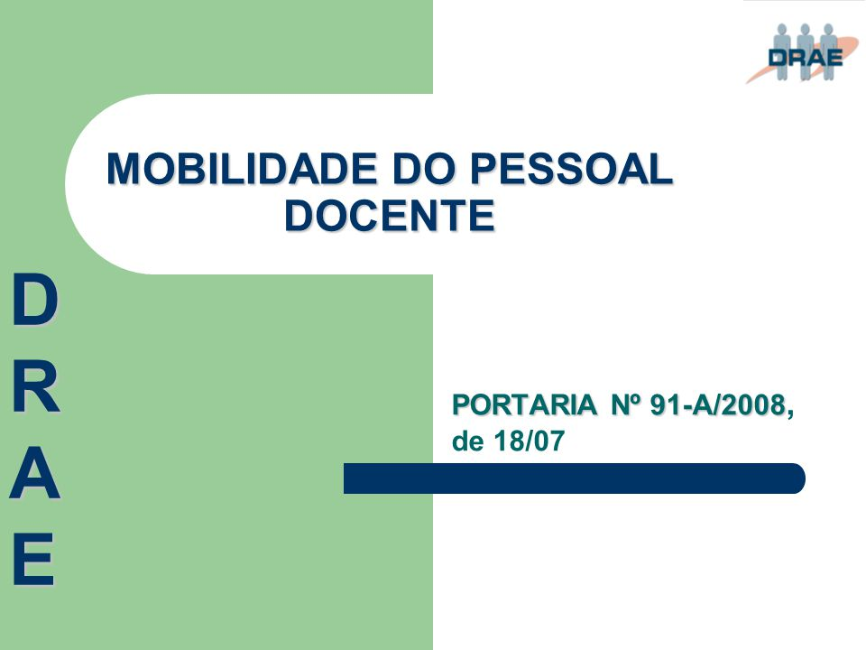 MOBILIDADE DO PESSOAL DOCENTE