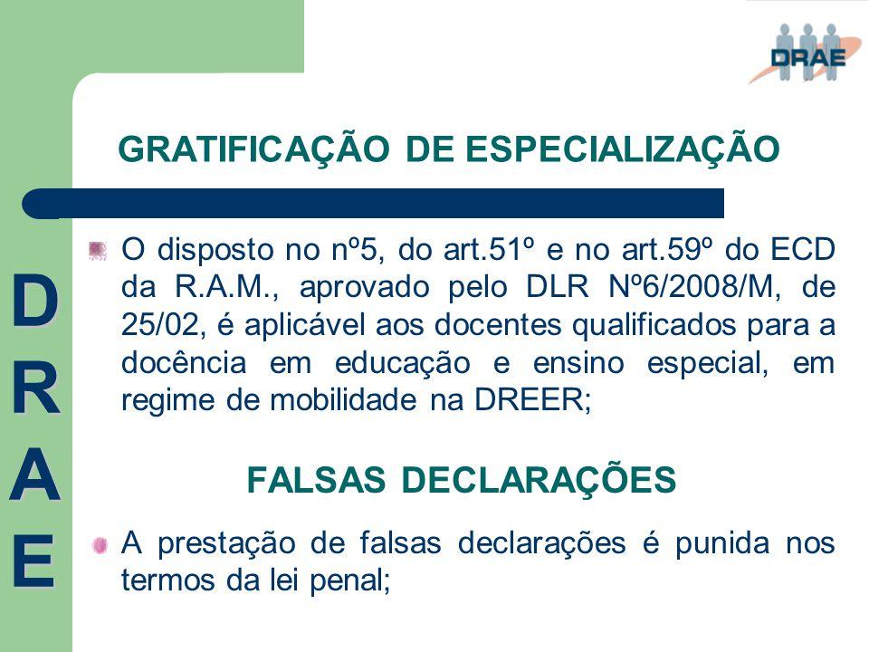 GRATIFICAÇÃO DE ESPECIALIZAÇÃO