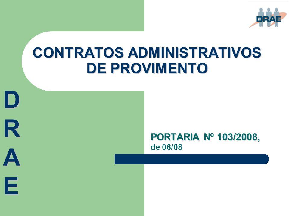 CONTRATOS ADMINISTRATIVOS DE PROVIMENTO