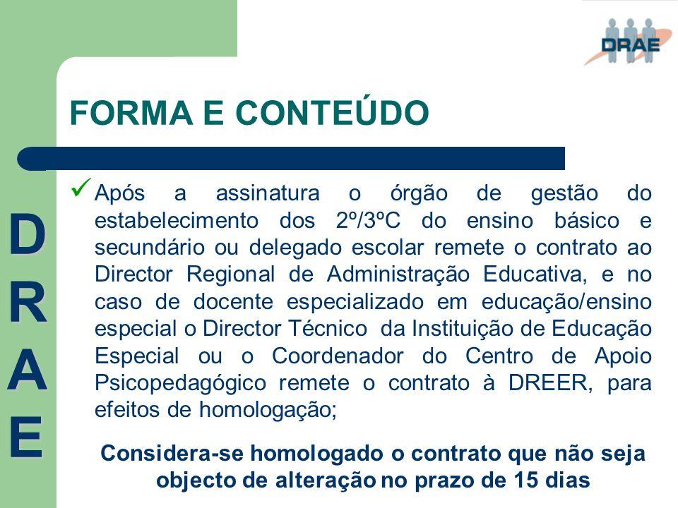 FORMA E CONTEÚDO