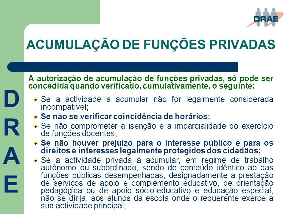 ACUMULAÇÃO DE FUNÇÕES PRIVADAS