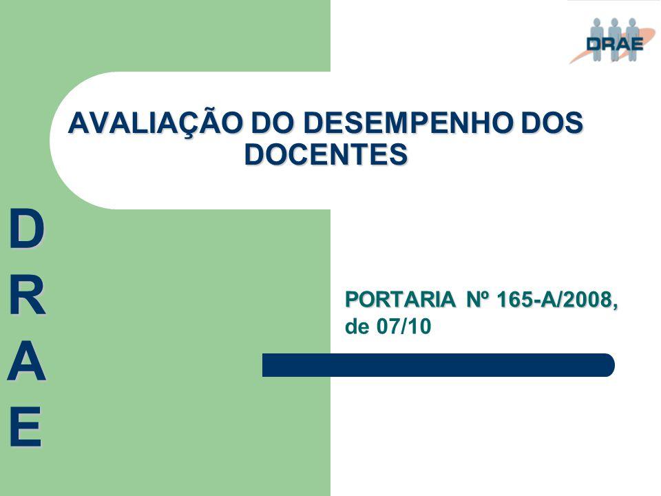 AVALIAÇÃO DO DESEMPENHO DOS DOCENTES
