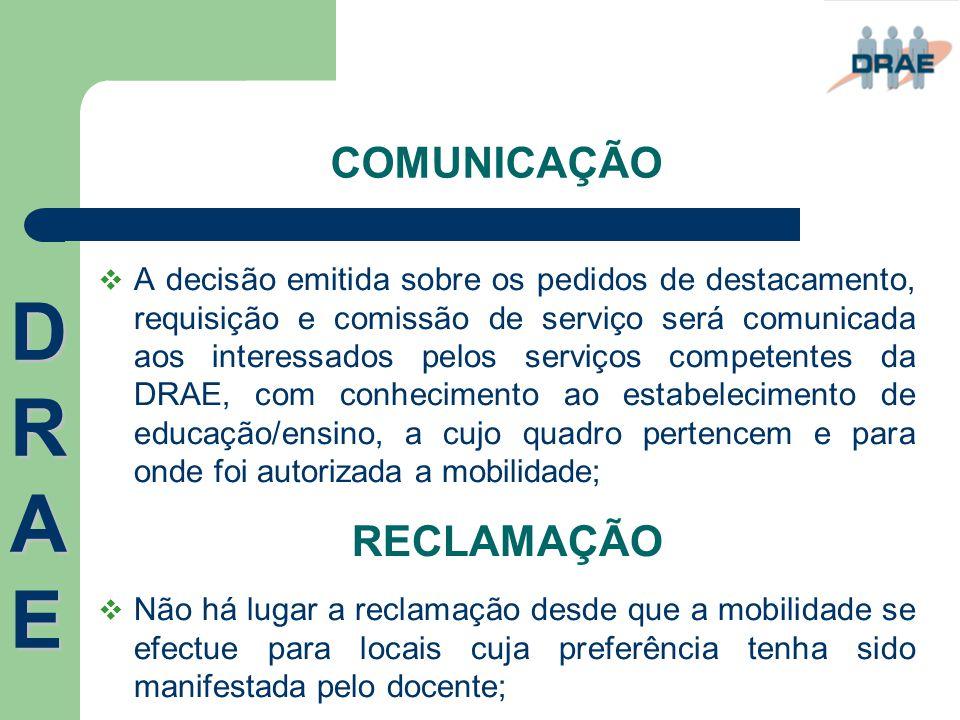 DRAE COMUNICAÇÃO RECLAMAÇÃO