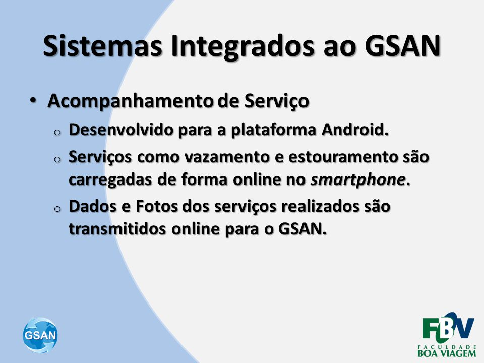 Sistemas Integrados ao GSAN