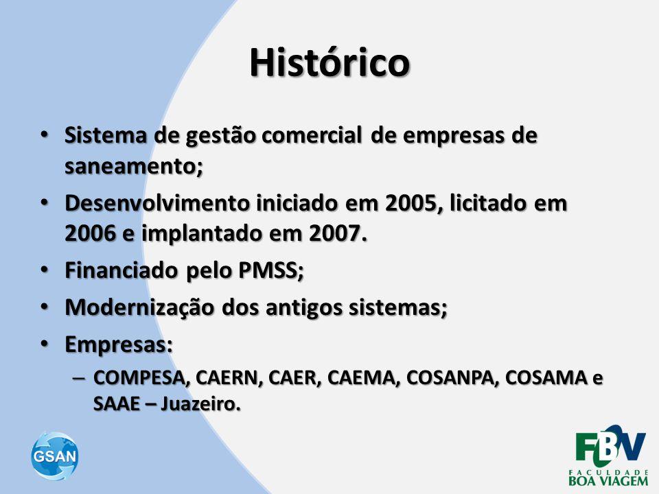 Histórico Sistema de gestão comercial de empresas de saneamento;