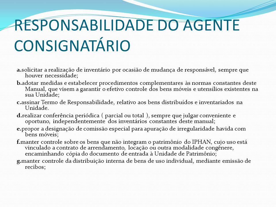 RESPONSABILIDADE DO AGENTE CONSIGNATÁRIO