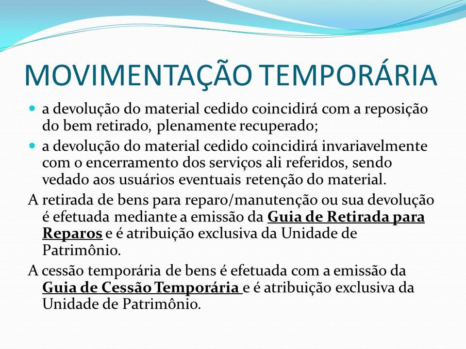 MOVIMENTAÇÃO TEMPORÁRIA