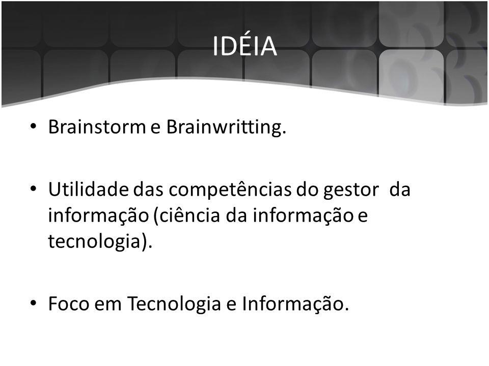 IDÉIA Brainstorm e Brainwritting.