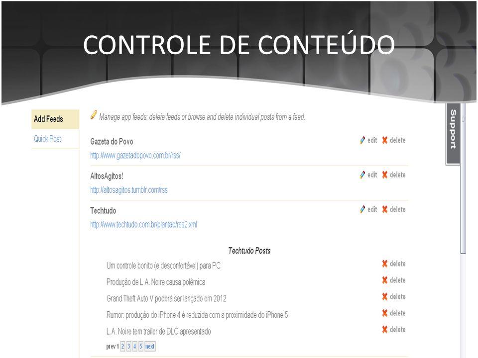 CONTROLE DE CONTEÚDO