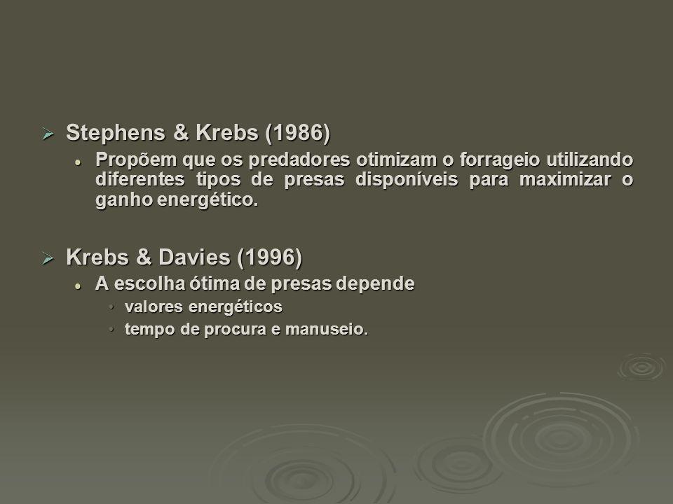 Stephens & Krebs (1986) Krebs & Davies (1996)