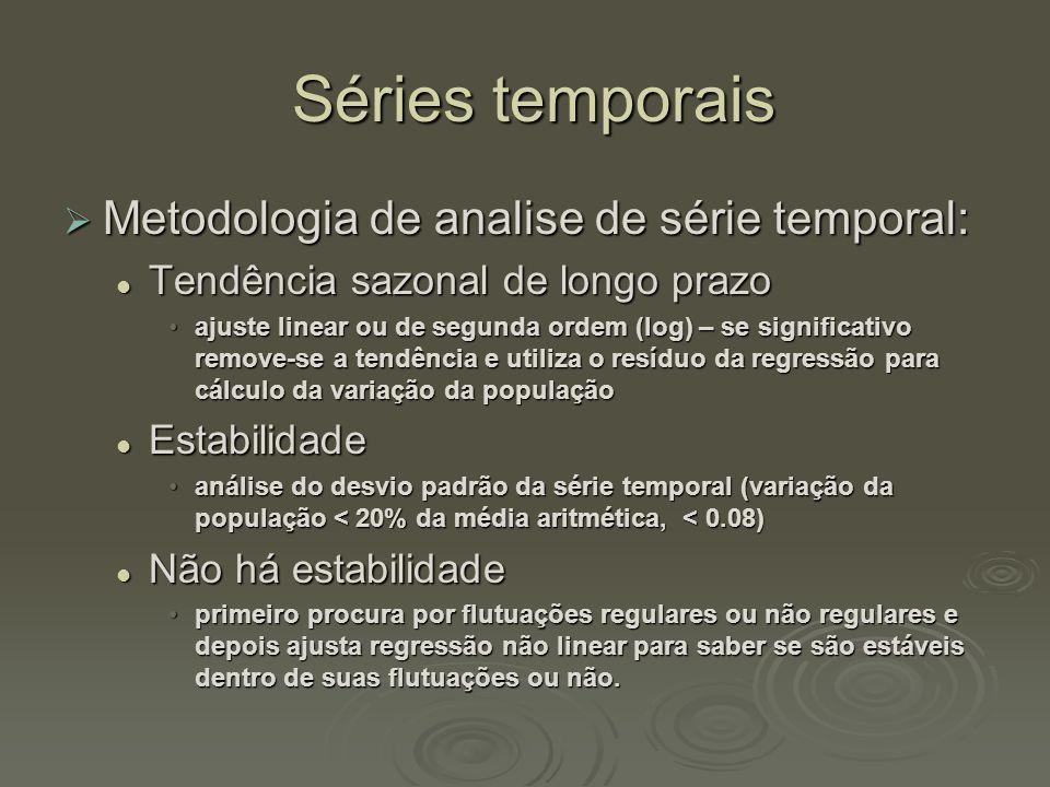 Séries temporais Metodologia de analise de série temporal: