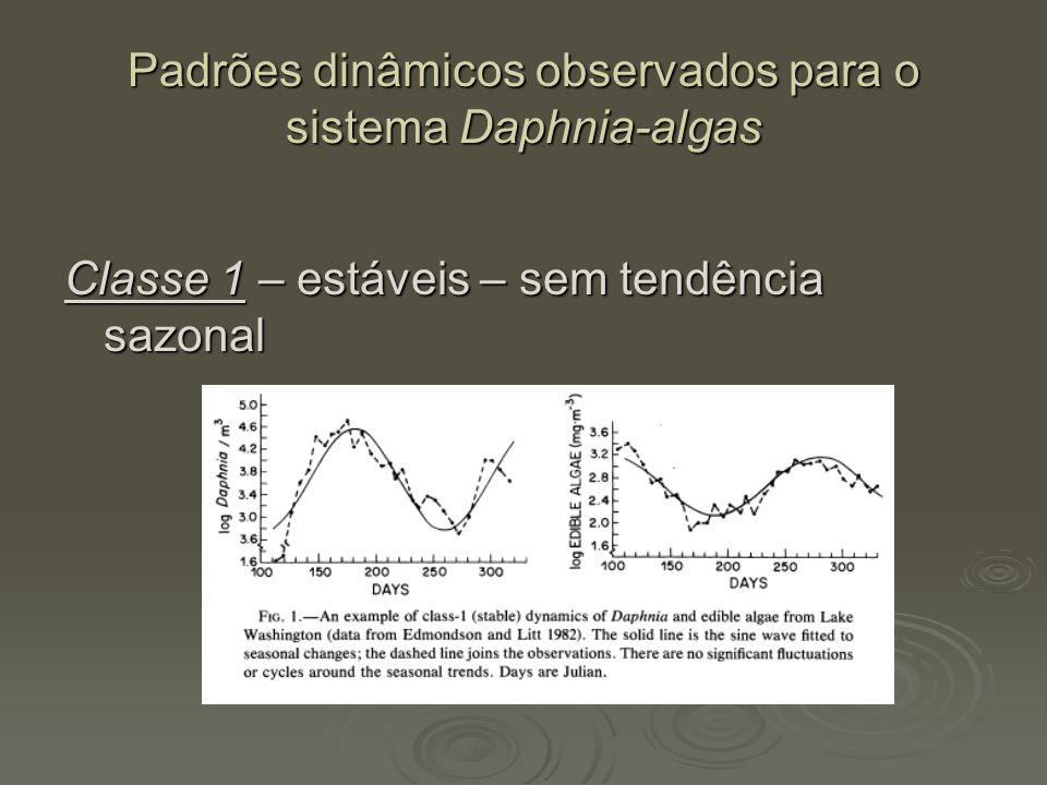 Padrões dinâmicos observados para o sistema Daphnia-algas