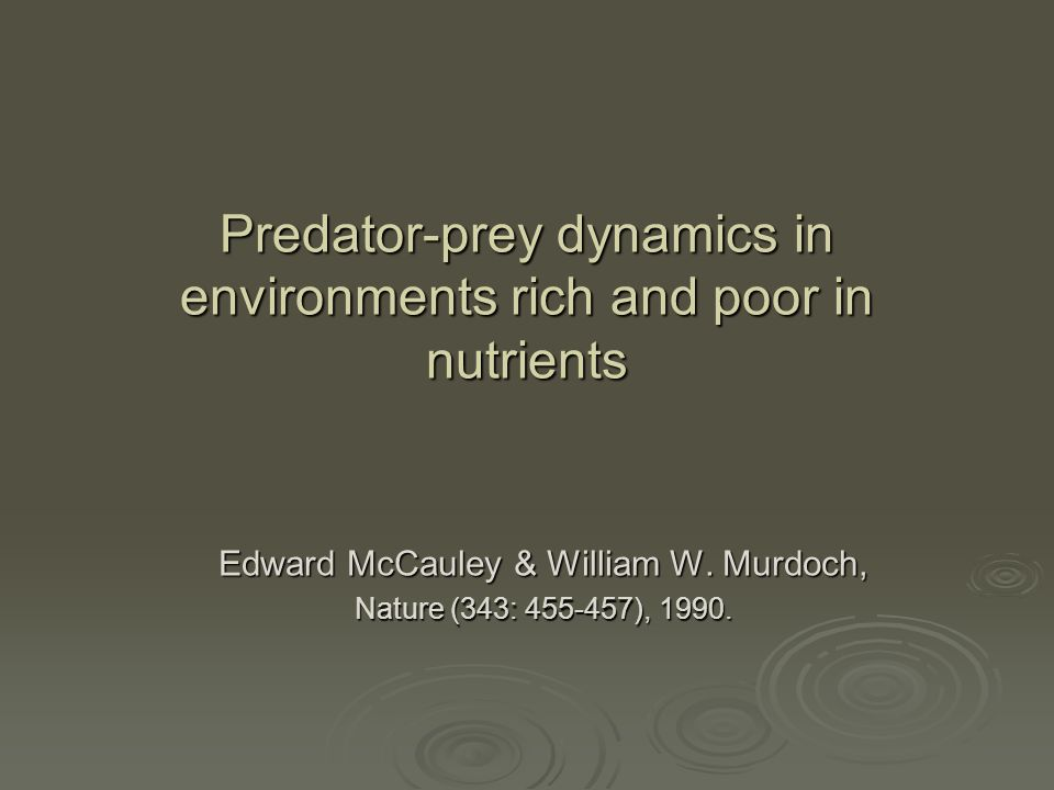 Predator-prey dynamics in environments rich and poor in nutrients