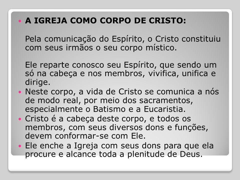 A IGREJA COMO CORPO DE CRISTO: