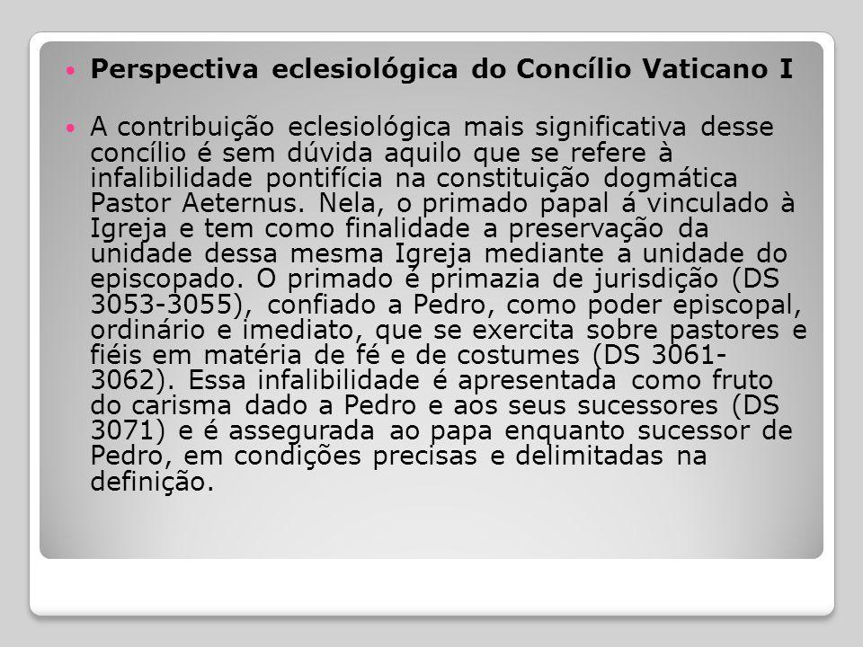 Perspectiva eclesiológica do Concílio Vaticano I