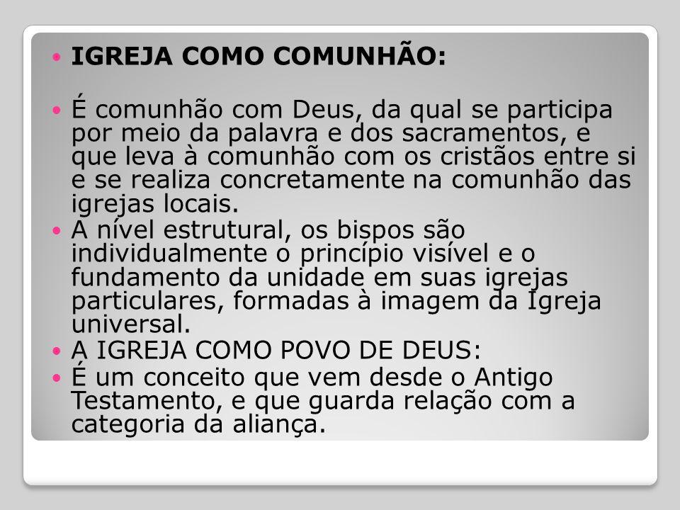 IGREJA COMO COMUNHÃO: