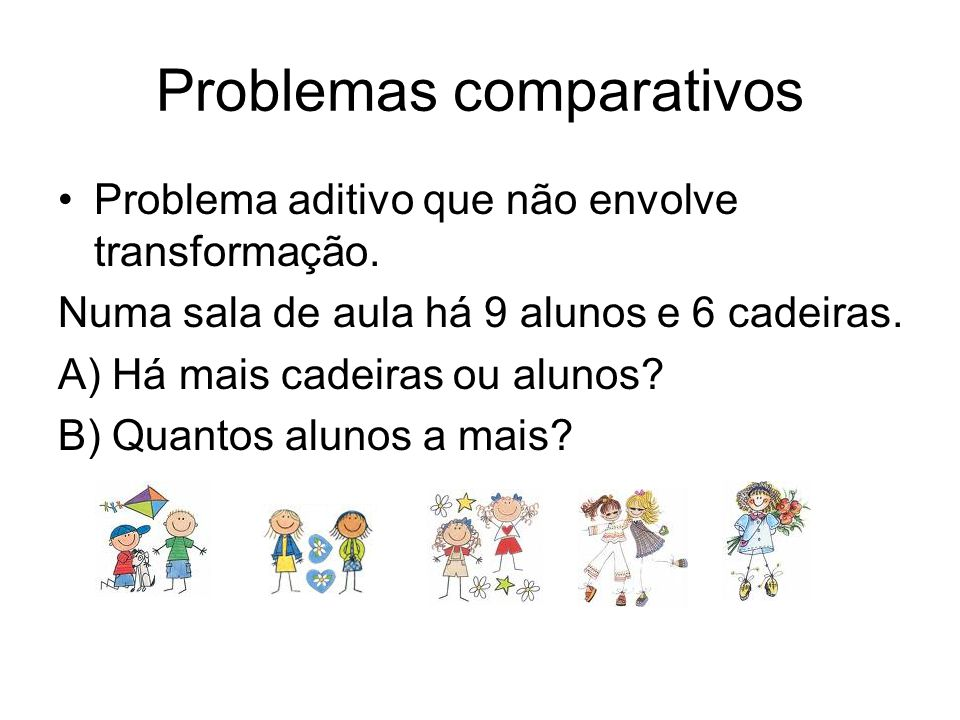 Problemas comparativos