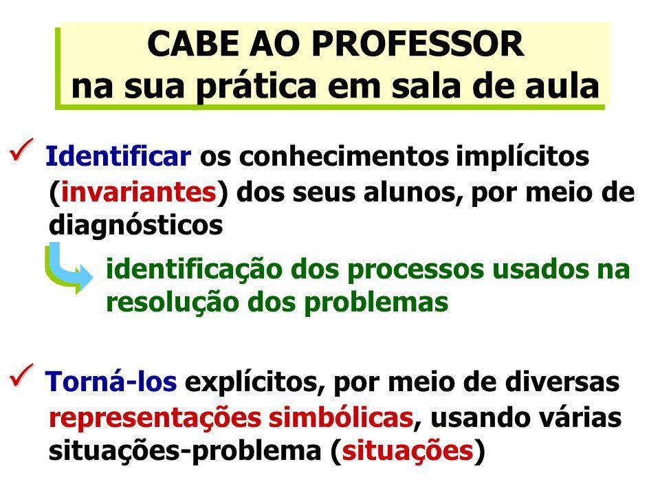 CABE AO PROFESSOR na sua prática em sala de aula