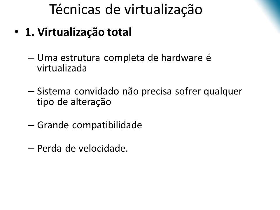 Técnicas de virtualização