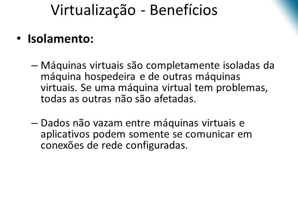 Virtualização - Benefícios