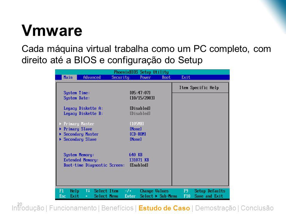 Virtualização – Estudo de Caso Vmware