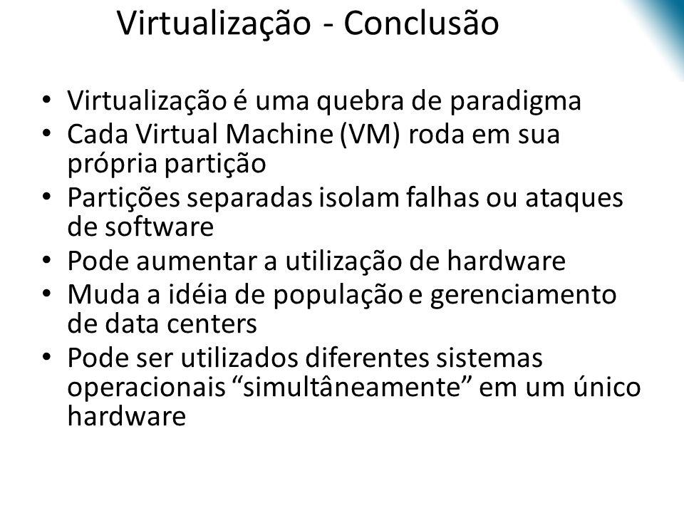 Virtualização - Conclusão