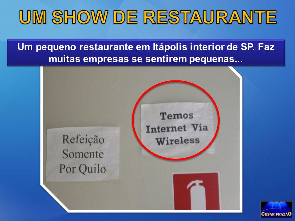 UM SHOW DE RESTAURANTE Um pequeno restaurante em Itápolis interior de SP.