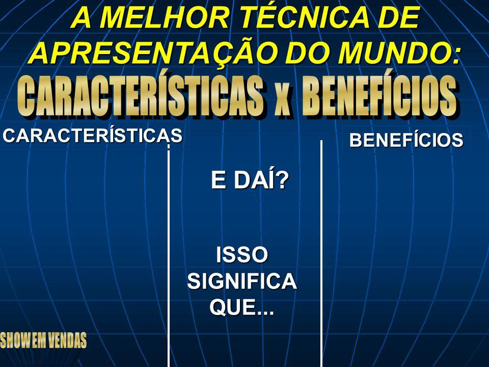 A MELHOR TÉCNICA DE APRESENTAÇÃO DO MUNDO:
