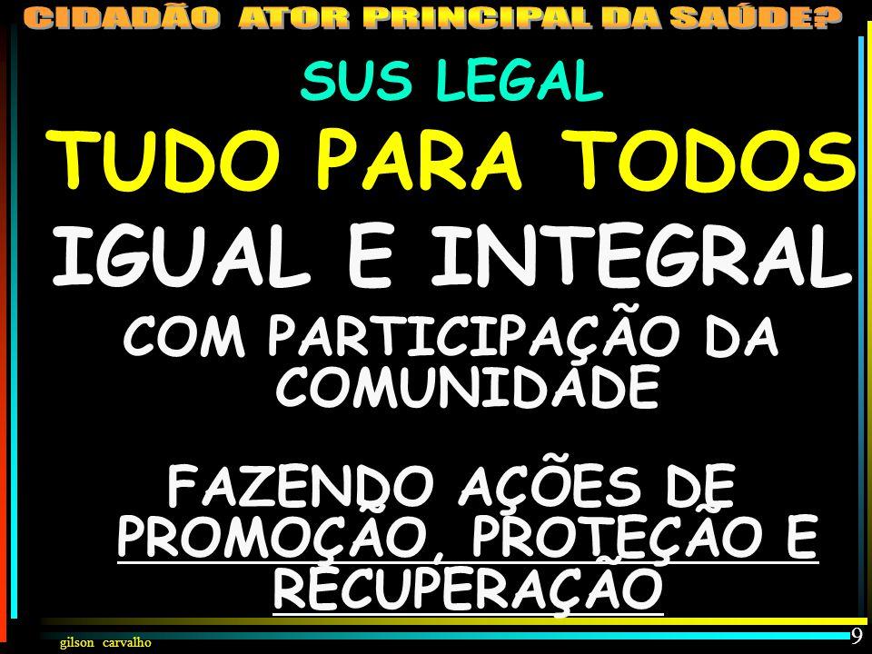 TUDO PARA TODOS IGUAL E INTEGRAL