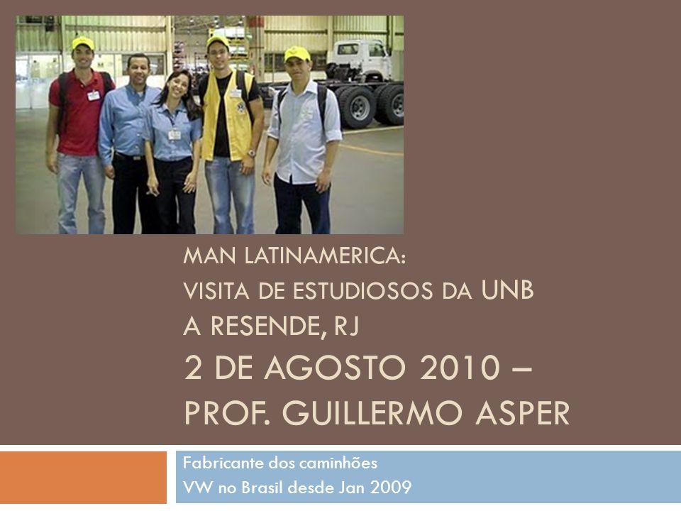 Fabricante dos caminhões VW no Brasil desde Jan 2009