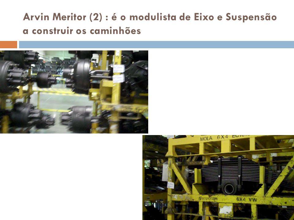 Arvin Meritor (2) : é o modulista de Eixo e Suspensão a construir os caminhões