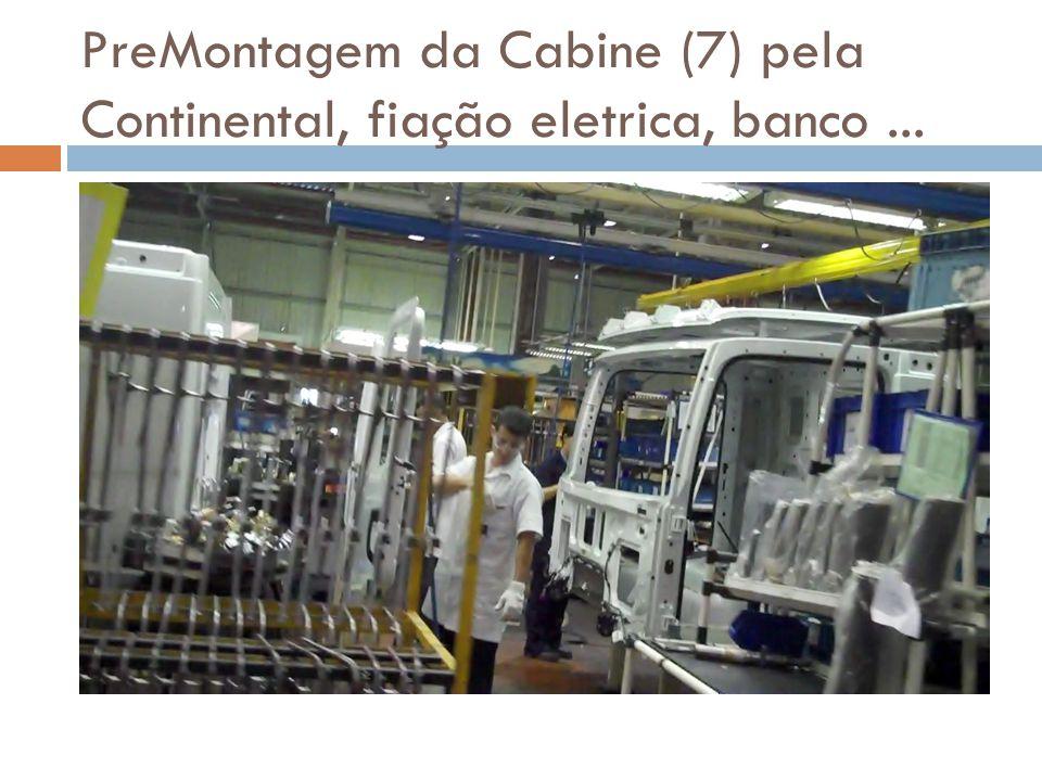 PreMontagem da Cabine (7) pela Continental, fiação eletrica, banco ...