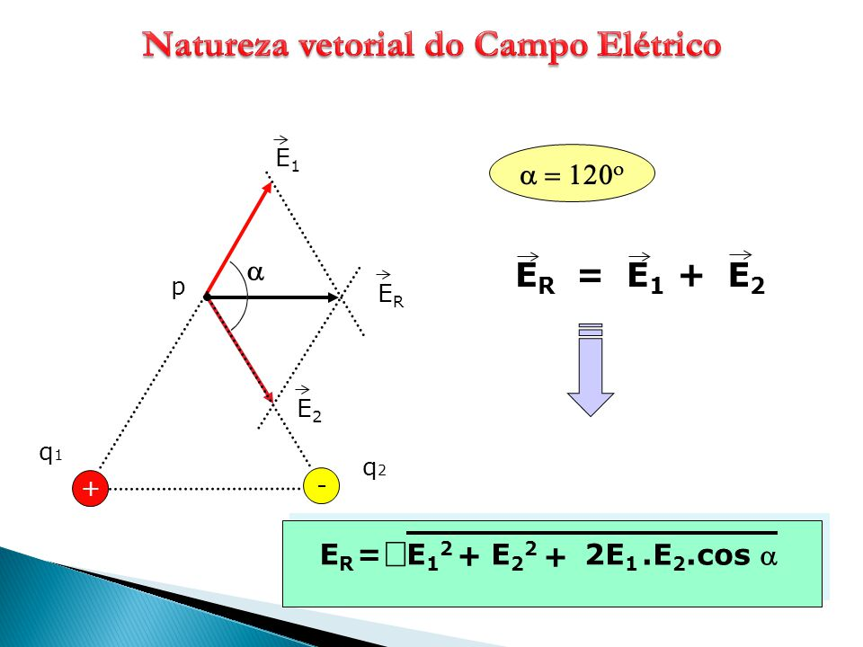 Natureza vetorial do Campo Elétrico