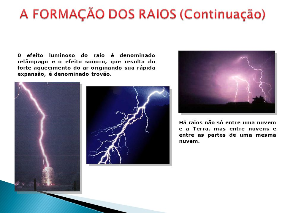 A FORMAÇÃO DOS RAIOS (Continuação)