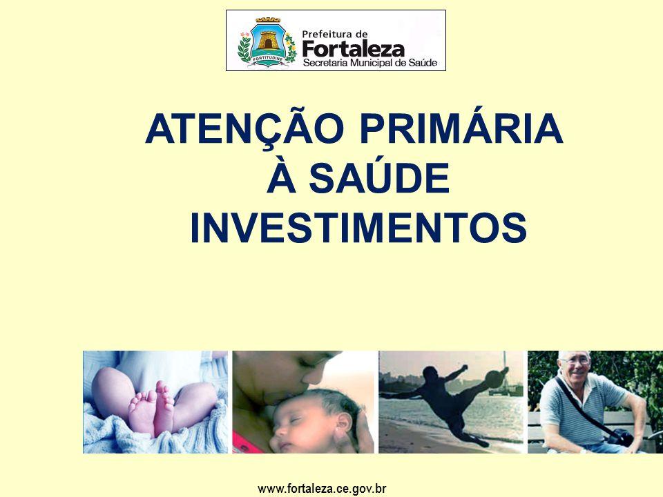 ATENÇÃO PRIMÁRIA À SAÚDE INVESTIMENTOS