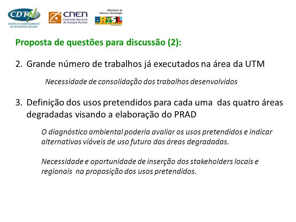 Proposta de questões para discussão (2):