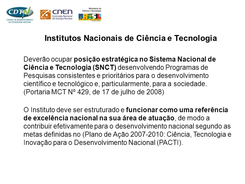 Institutos Nacionais de Ciência e Tecnologia