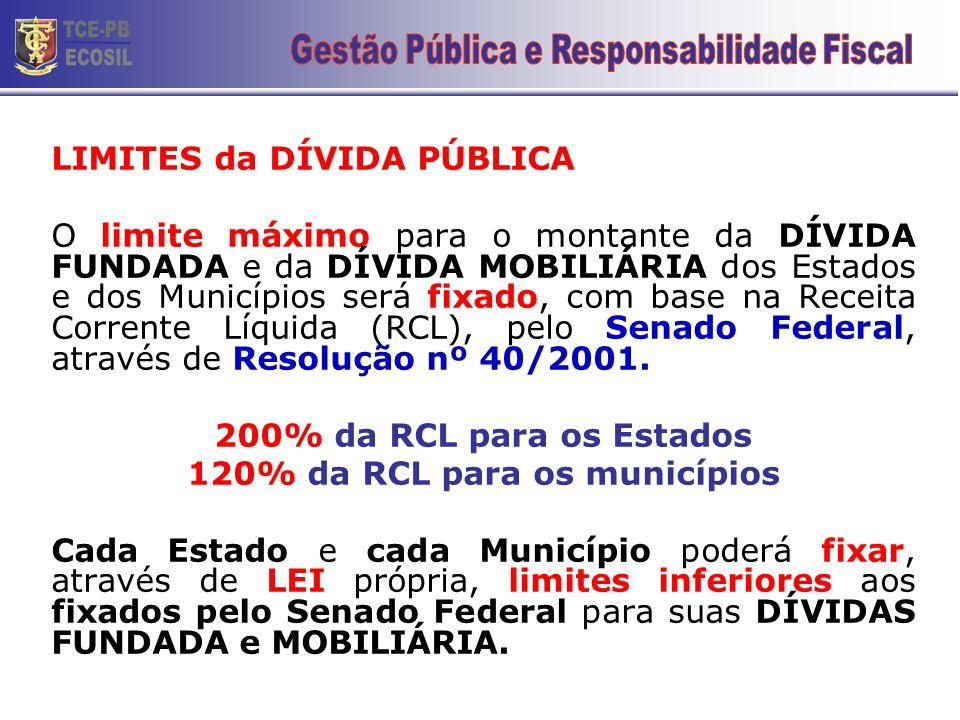 120% da RCL para os municípios