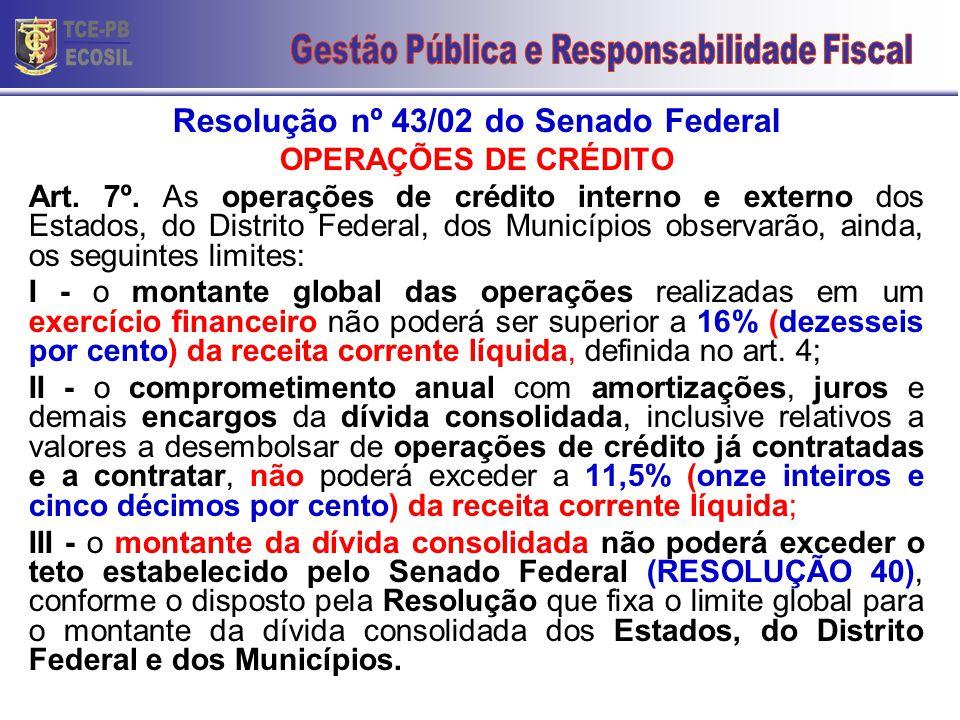 Resolução nº 43/02 do Senado Federal