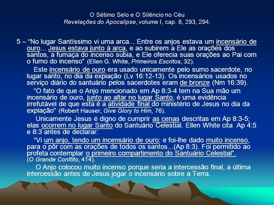 O Sétimo Selo e O Silêncio no Céu Revelações do Apocalipse, volume I, cap. 8, 293, 294.