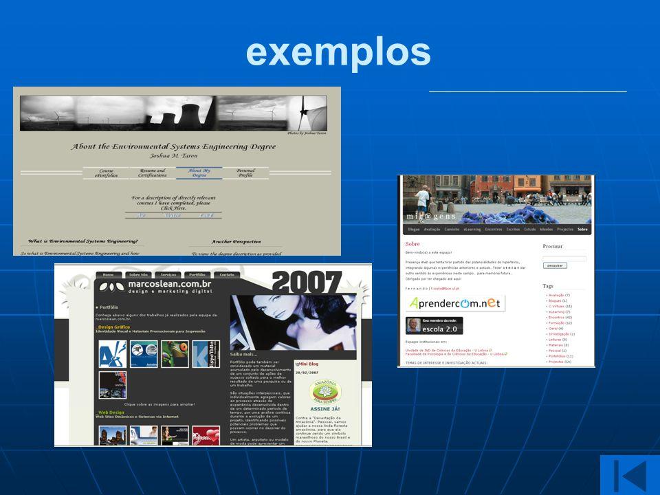 exemplos Exemplos Cinza - eportfolio de aluno