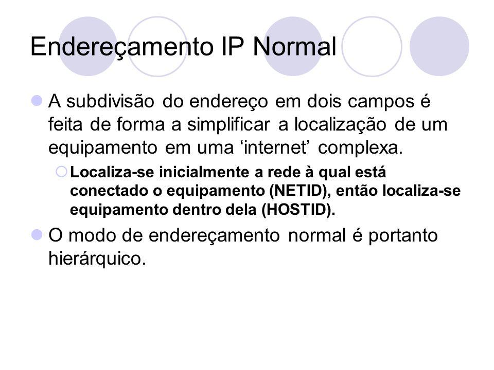 Endereçamento IP Normal