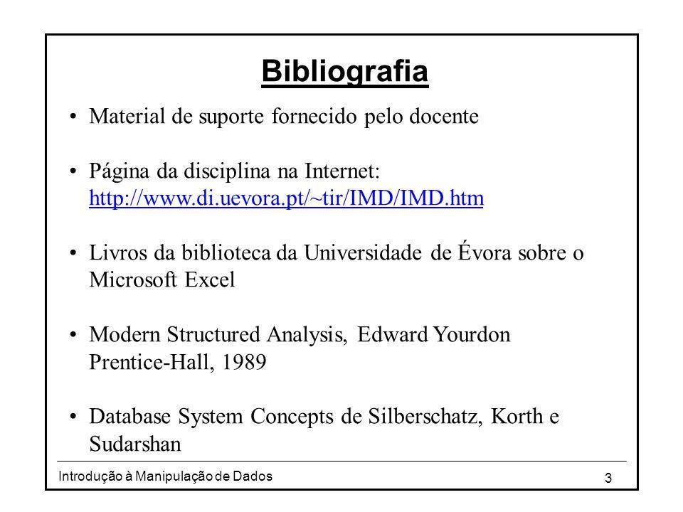 Bibliografia Material de suporte fornecido pelo docente