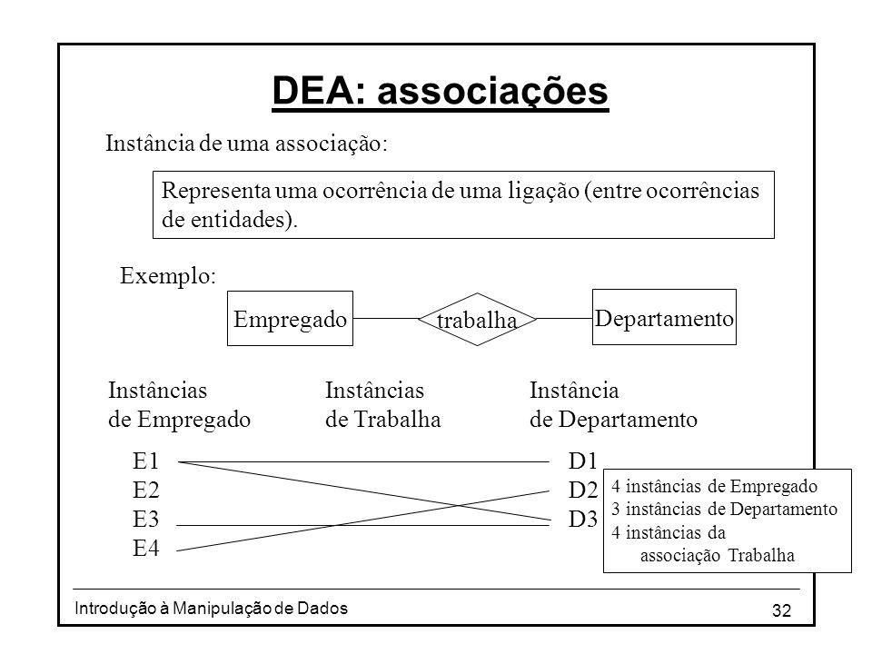DEA: associações Instância de uma associação: