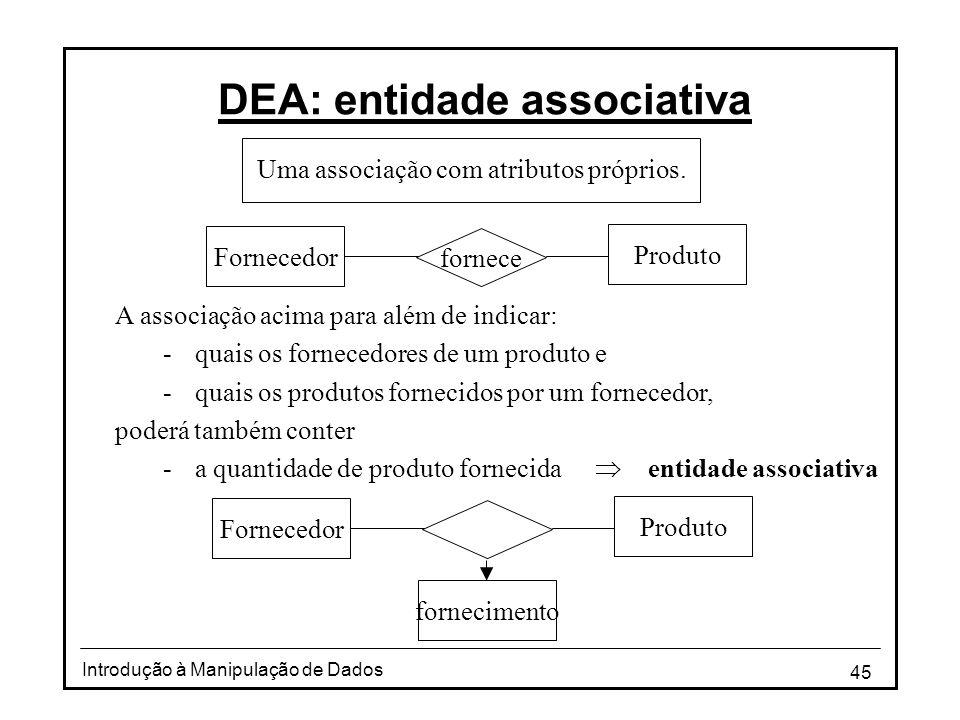 DEA: entidade associativa